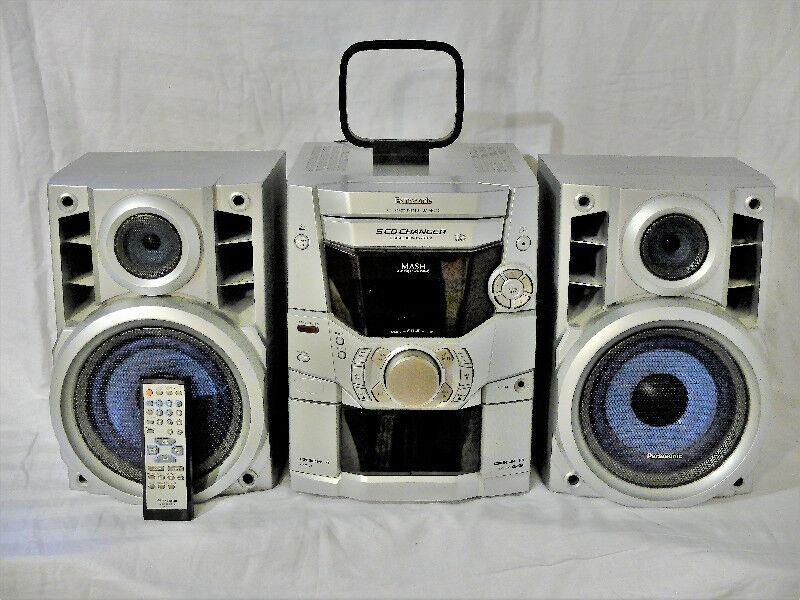 Panasonic SA AK110 160 Watt Bookshelf Stereo System