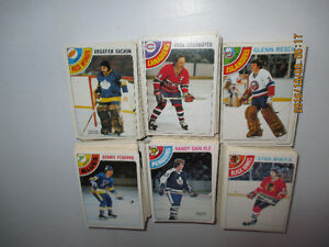 1978-79 OPC Hockey Cards  Lot of 300  No Doubles