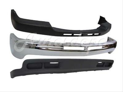 FOR 99-02 CHEVY SILVERADO 2WD 2500HD 3500 FRONT BUMPER CAP FACE BAR CHR VALANCE