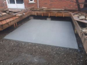 Residential hot tub pads and concrete work