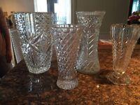 Glass cut vase