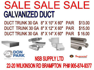 Galvanized duct for sale