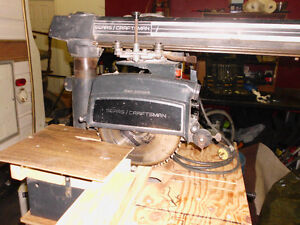 Sears 10in. Radial Arm Saw.