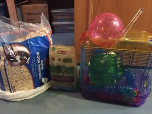 Hamster cage and accessories Strathcona County Edmonton Area image 1