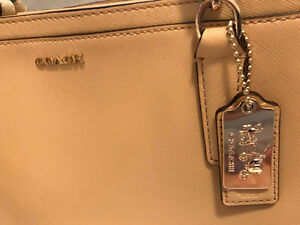 COACH beige leather bag