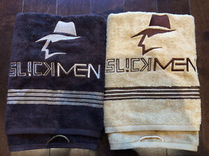 SLICKMEN BATH TOWELS BROWN AND BEIGE
