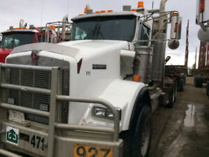 LOGGING--2004 Kenworth T800B Tandem axle log truck-unit  111