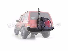 Jeep Cherokee XJ Rear Bumper XRC Swing Away Tire Carrier Hi - Lift