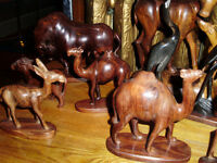 ASSORTED HAND CARVINGS