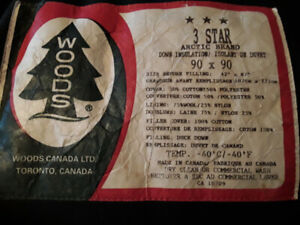 Attention Hunters = Woods 3-star down filled sleeping bag