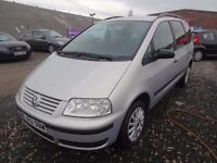 VW VOLKSWAGEN SHARAN 1.9 TDi 115~02/2002~5 DOOR MPV~6 SPEED MANUAL~BRIGHT SILVER