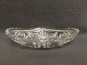 Collectible Antique Crystal Oval Candy Dish London Ontario image 2