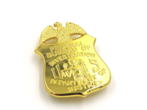 US FBI BADGE MONEY CLIP DEPARTMENT OF JUSTICE BADGE CLIP