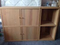 Ikea Furniture Wood Storage Unit Cupboard