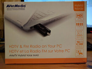 AVerMedia HDTV & FM Tuner for Laptop/PC for sale Cambridge Kitchener Area image 1