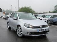2012 VOLKSWAGEN GOLF 2.0 TDi 140 GT DSG Auto Leather Bluetooth 1 Owner