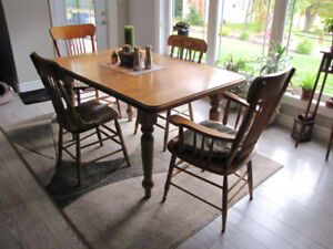 Bass River Dining Table and 6 Chairs