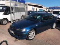 2005 54 BMW 320D M SPORT TOPAZ BLUE SUPERB DRIVE DIESEL ECONOMY CHEAP CAR MOT'D