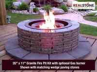 Granite Fire Pits - Gas or wood burning!