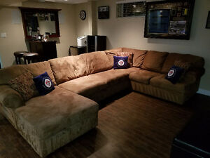 Light Brown Ashley Furniture Sectional 3 piece Couch