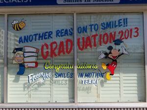 Window Art and Advertising / Hand Painted Signs Cambridge Kitchener Area image 5