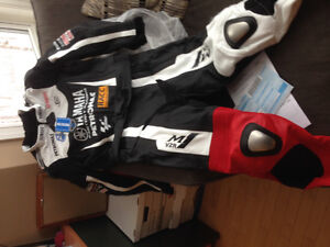 Two Piece Yamaha Full Body Leather Suit