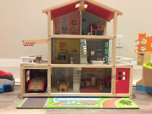 Hape Dollhouse with furniture