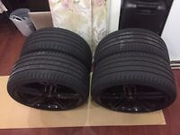 "20"" Audi RS6 Gloss Black Alloy Reps *WITH* virtually new Nankang tyres £549.00"