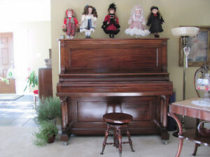 PRICE REDUCED LATE 1800's ANTIQUE TRYBER PIANO