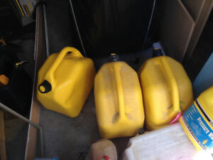 3 x 20 Litre Yellow Diesel Fuel Jerry Cans