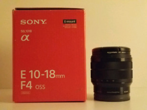 Sony 10-18mm APS-C E mount lens