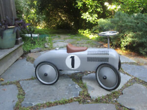 Silver Speed Racer Ride-On Car