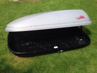 Large Roof Box and brackets side opening