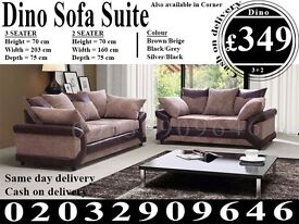 Itailan Cord Fabric Corner Sofa Suite 3 2 seat crushed velvet left right available Springfield