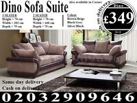 Itailan Cord Fabric Corner Sofa Suite 3 2 seat crushed velvet left right available Brooksville