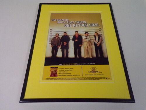 Usual Suspects 2002 11x14 Framed ORIGINAL Vintage Advertisement