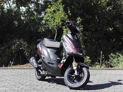 sparsames 4 Takt 50ccm Mokick mit Euro 4 Abgasnorm Motorroller GMX 460 Retro Classic 45 km//h cremewei/ß
