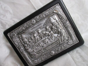 handmade Religious plaque-Greece. Holy image copy old Byzantine