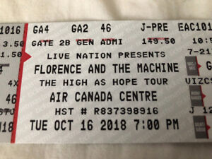 Florence and the Machine GA FLOOR Ticket-FACE VALUE! Scotiabank