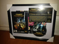 Various Framed Video Game collectables