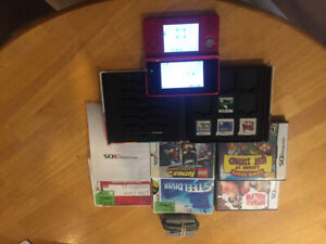 Nintendo 3DS with charger and games in good working condition