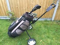 Golf Trolley Bag and Clubs