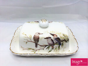 Kookaburra Butter Dish 17x12x8cm with Lid Home Collectable Gift CW306