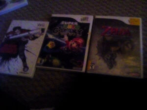 Wii games 20 ea.