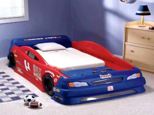 toddler car beds kids twin bed stock little tikes race