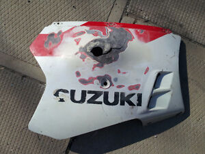 Suzuki GSXR 750 plastic side panel fairing 1991 slingshot white