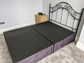 Free collection Double bed base + headboard