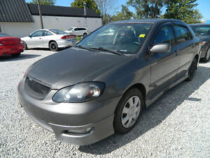 2005 Toyota Corolla XRS  w/ SAFETY & ETEST, FINANCING FOR ALL