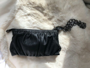 ESPRIT LEATHER CLUTCH BAG PURSE