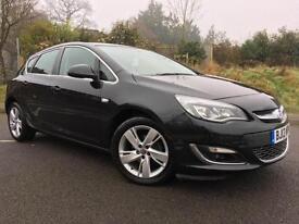 2013 13 Vauxhall Astra 1.4i VVT SRI 16v 5dr in Black metallic, Genuine 39k